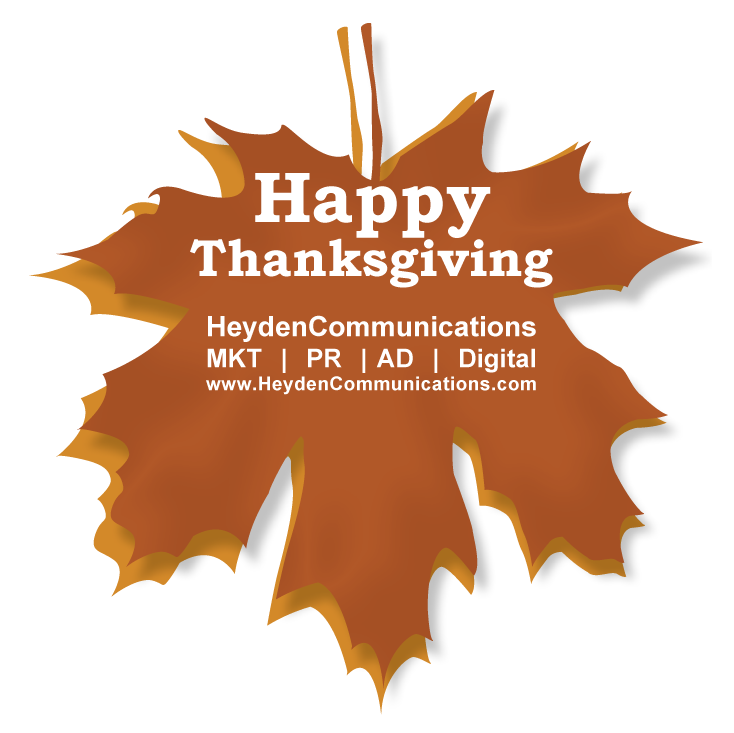 Happy Thanksgiving from Heyden Communications